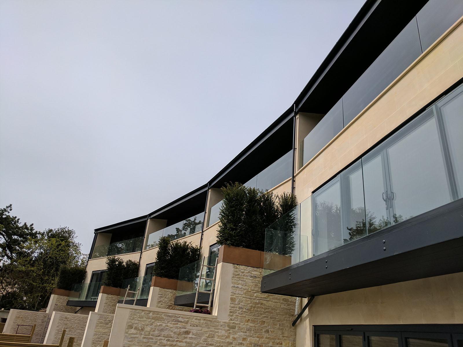 Modern Glass Balustrade in Bath
